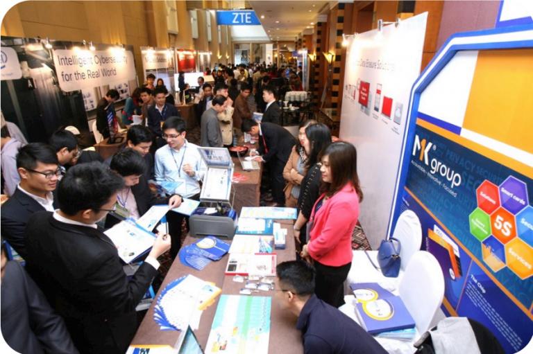 MK thường xuyên được mời tham gia các hội chợ công nghệ trong và ngoài nước.