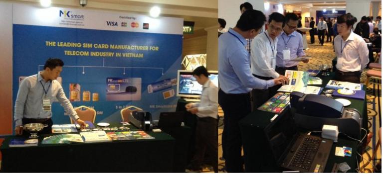 Gian hàng triển lãm của MK Smart tại hội thảo 4G/LTE Cambodia