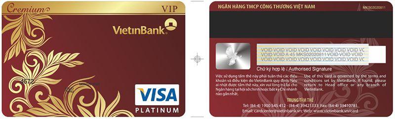 thẻ Cremium visa Platinum