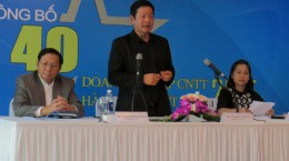 Ôn Trương Gia Bình - Chủ tịch Vinasa công bố danh sách 40 doanhg nghiệp CNTT hàng đầu Việt Nam 2015