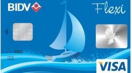 thẻ tín dụng visa bidv flexi