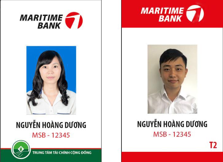 mẫu thẻ nhân viên ngân hàng maritimebank