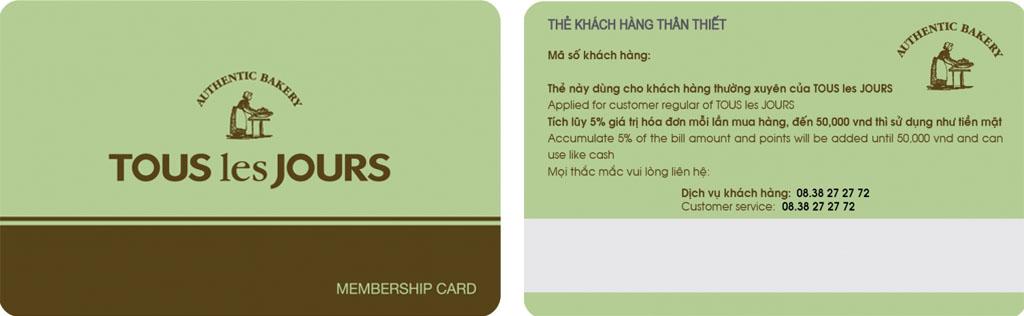 thẻ khách hàng thân thiết