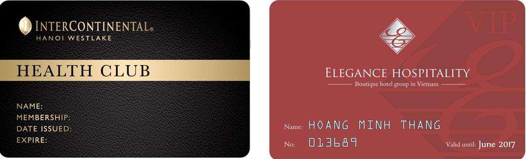 thẻ thành viên khách sạn