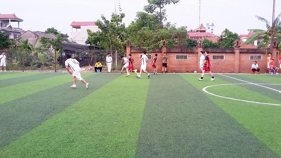 giao lưu bóng đá văn phòng nhà máy mksmart
