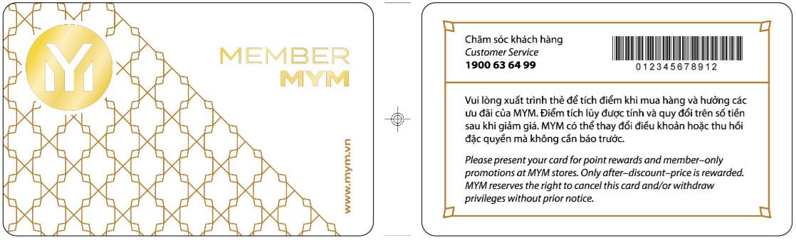 thẻ member mym