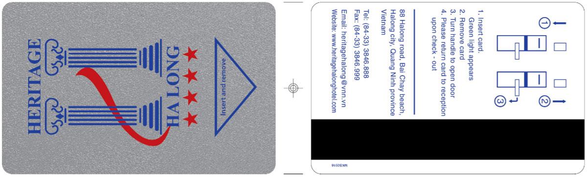 in thẻ chìa khóa khách sạn heritage