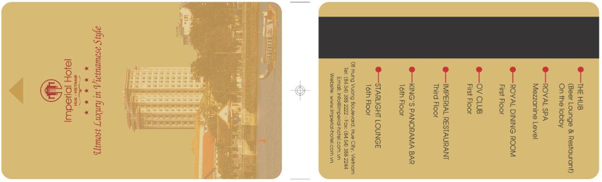 mẫu thẻ chìa khóa khách sạn imperial