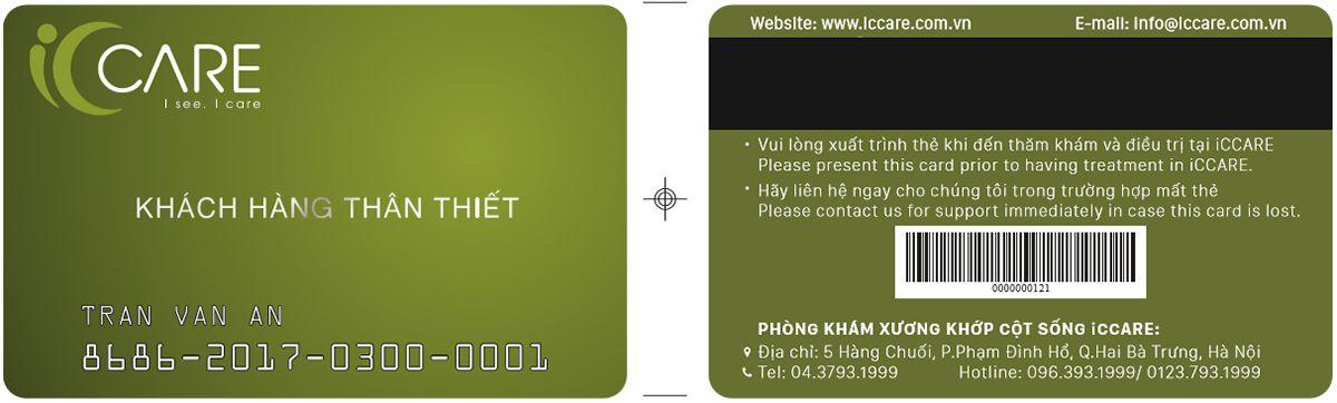 thẻ khách hàng thân thiết iccare