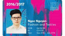 in thẻ london college design fashion