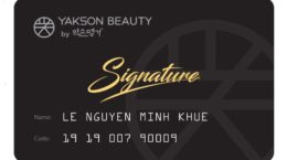 in thẻ thành viên yakson beauty