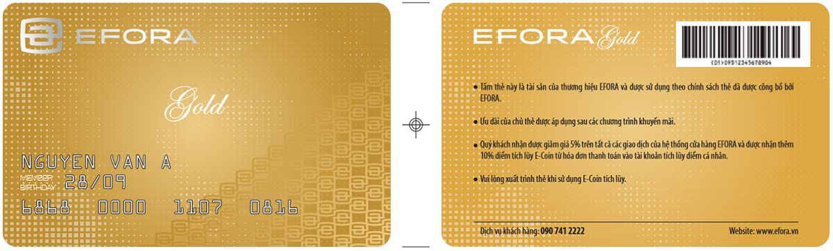 in thẻ khách hàng thân thiết efora