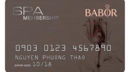 thẻ babor spa membership