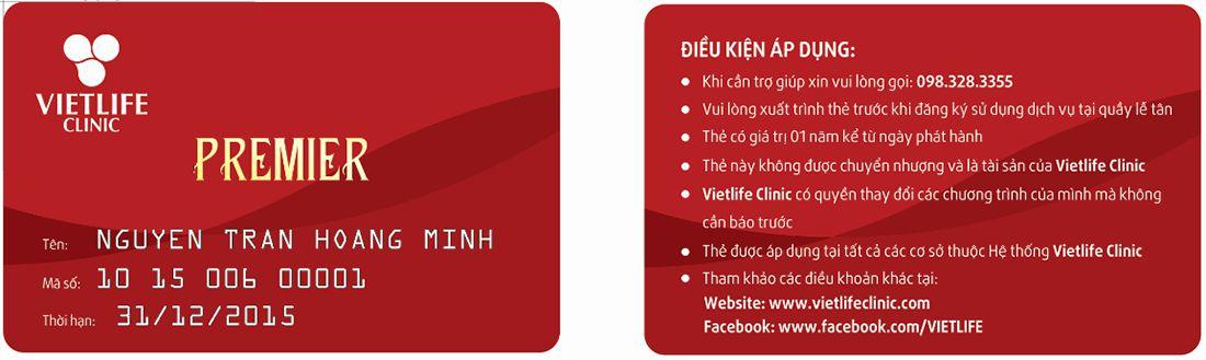 thẻ premier vietlife clinic