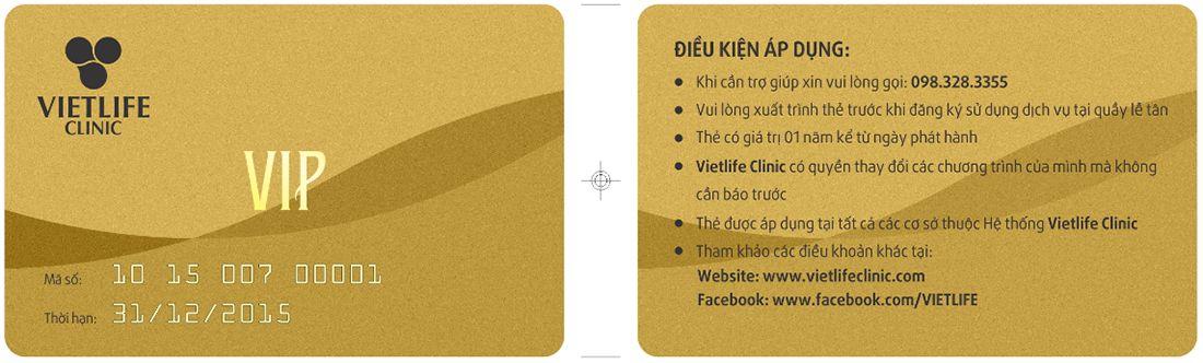 thẻ vip vietlife clinic